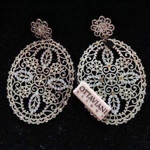 OTTAVIANI Bijoux Large Filigreed Earrings